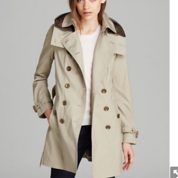 9829af852 Burberry Jackets & Coats | Reymoore Trench Coat With Detachable Hood ...